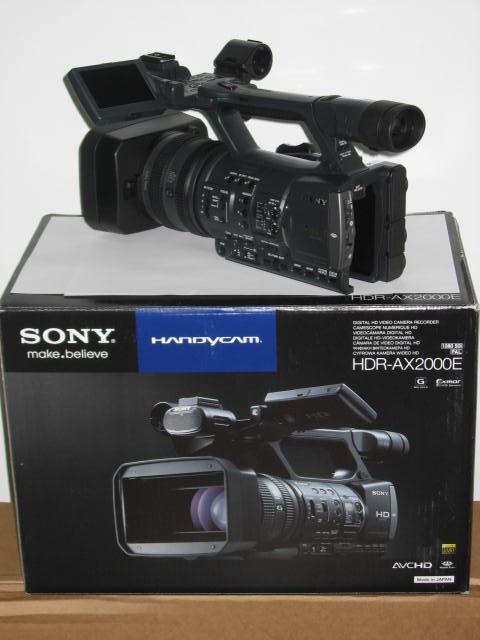 Sony Hdr Ax2000e Ax2000 Avchd Full Hd Camcorder