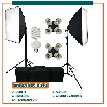 MEETLE DAYLIGHT KIT 432 ( 1000W ) & 2 Stands & 2 EZ SoftBox & BAG