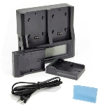 DUAL CHANNEL BATTERY CHARGER WITH LCD FOR L SERIES BATTERIES NP-F970